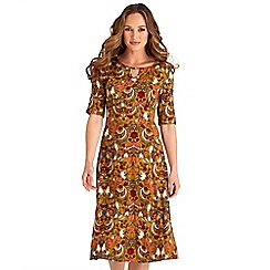 Joe Browns - Multicoloured floral print 'Vintage Inspired' knee length dress
