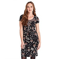 Joe Browns - Multicoloured floral print jersey 'Colours of Autumn' knee length tea dress