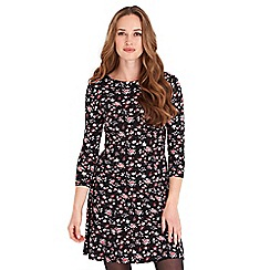 Joe Browns - Multicoloured floral print jersey 'Just For A Night' knee length dress