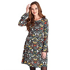 Joe Browns - Multicoloured graphic 'My Desire' long sleeves knee length tea dress
