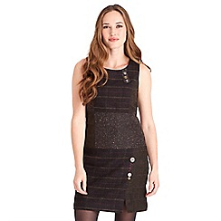 Joe Browns - Brown checked wool blend 'Quirky' mini pinafore dress
