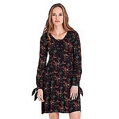 Joe Browns - Multicoloured floral print 'Staggering' v-neck long sleeves knee length dress