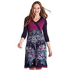 Joe Browns - Multicoloured printed jersey 'Love Life' v-neck knee length dress