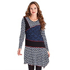 Joe Browns - Multicoloured printed jersey 'Mix It Up' long sleeves knee length tunic dress