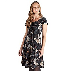 Joe Browns - Brown floral print 'Sexy Effortless' knee length skater dress