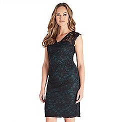 Joe Browns - Multicoloured plain lace 'Sexy' v-neck knee length bodycon dress