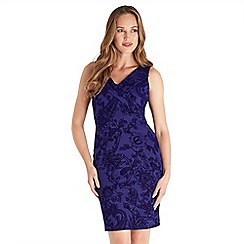 Joe Browns - Purple 'Electric' v-neck knee length bodycon dress