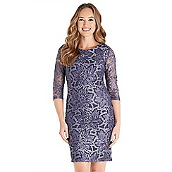 Joe Browns - Purple lace 'Passionate' knee length bodycon dress
