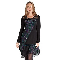 Joe Browns - Multicoloured jersey 'Christmas' long sleeve short tunic dress