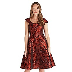 Joe Browns - Red printed 'After Midnight' knee length skater dress