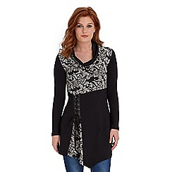 Joe Browns - Black relaxed lace detail top