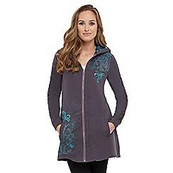 Joe Browns - Grey sassy sequin hoody