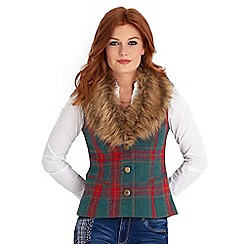 Joe Browns - Multi coloured funtime faux fur collar waistcoat