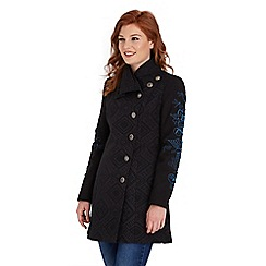 Joe Browns - Black embroidered enchantment coat
