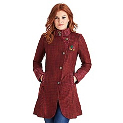 Joe Browns - Red distinctive tweedy coat