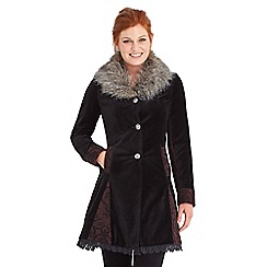 Joe Browns - Black mysterious velvet coat