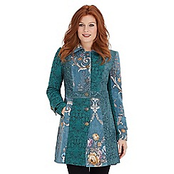 Joe Browns - Green joyful jacquard coat