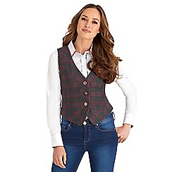 Joe Browns - Multi coloured into the woods check waistcoat