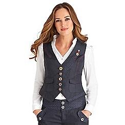 Joe Browns - Navy perfect pinstripe waistcoat