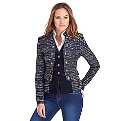 Joe Browns - Navy terrific tweedy 2 in 1 jacket