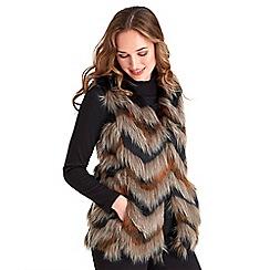 Joe Browns - Multi coloured fab funky fur waistcoat
