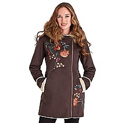 Joe Browns - Chocolate mock sheepskin coat