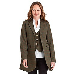 Joe Browns - Green sophisticated check long jacket