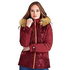 Joe Browns - Red jacquard padded jacket