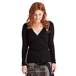 Joe Browns - Black fabulously flattering ribbed knit