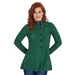 Joe Browns - Green creative cable cardigan
