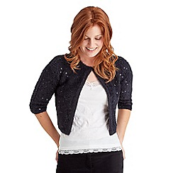 Joe Browns - Black sequin fluffy shrug