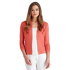 Joe Browns - Peach one of a kind cable cardigan