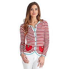 Joe Browns - Multi coloured cherry stripe cardigan