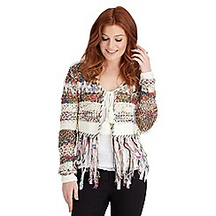 Joe Browns - Multi coloured funky fringed festival knit