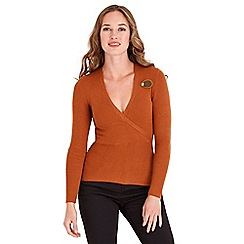 Joe Browns - Orange fabulously flattering ribbed knit