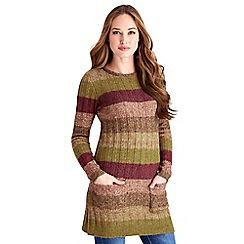 Joe Browns - Multi coloured autumn stripe knit