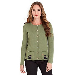 Joe Browns - Green cute cat cardigan