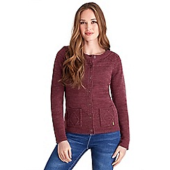 Joe Browns - Dark red plain and simple knit cardigan