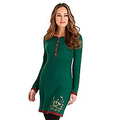 Joe Browns - Green joe's signature embroidered knit