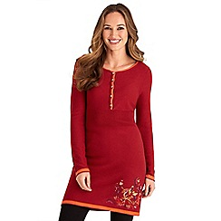 Joe Browns - Red joe's signature embroidered knit