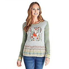 Joe Browns - Multi coloured funky fox jumper