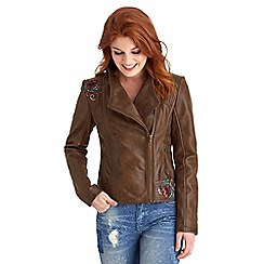 Joe Browns - Brown vintage leather jacket