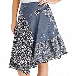Joe Browns - Multi coloured floral chambray skirt