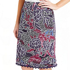 Joe Browns - Multi coloured wildflower jersey skirt