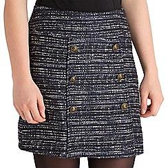 Joe Browns - Navy terrific tweedy skirt