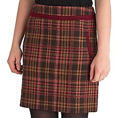 Joe Browns - Multi coloured winter warmer check skirt