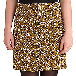 Joe Browns - Mustard mad about you cord mini skirt