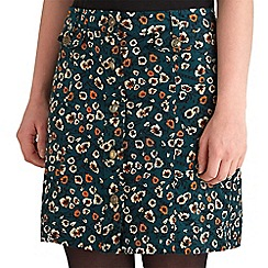 Joe Browns - Green mad about you cord mini skirt
