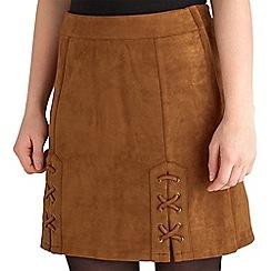 Joe Browns - Tan mad love suedette skirt