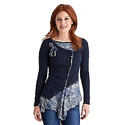 Joe Browns - Navy creative crinkle top